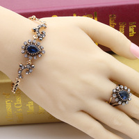 الأزياء اليدوية التركية أساور للنساء 4 مجوهرات العتيقة لون الذهب الحب سوار الكريستال خمر التركية أساور الكلاسيكية