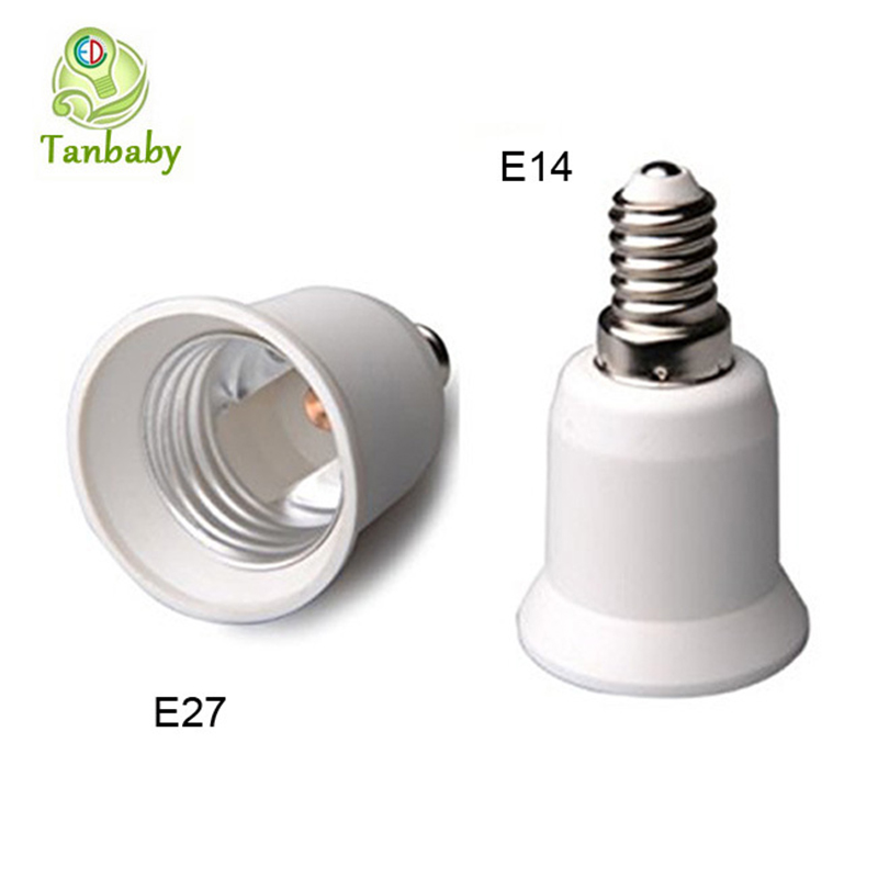 Tanbaby 5pcs/lot E14 to E27 Screw Base Lamp Socket Holder LED Light Bulb Adapter E14 to E27 Screw Base