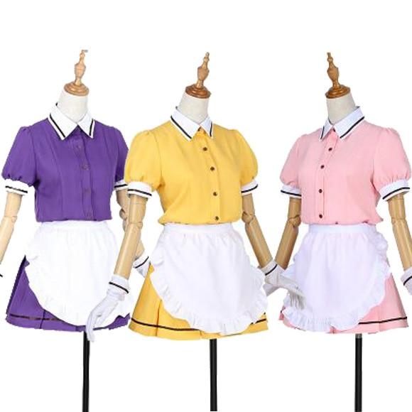 COSPlAY Japanese anime Blend S Maika Sakuranomiya Mafuyu Hoshikawa Miu Amano maid outfit Coffee shop (5pcs) Cos Clothes