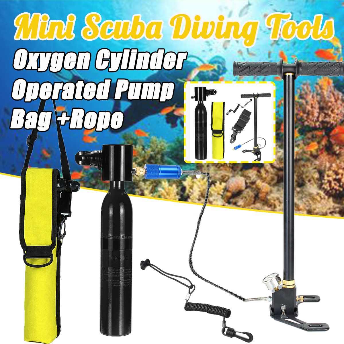 Équipement de plongée Mini pompe à main pour 0.5L Mini bouteille de plongée sous-marine réservoir d'air natation accessoires de respiration sous-marine