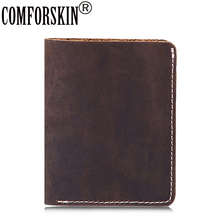 COMFORSKIN New Arrivals Handmade Short Casual Vintage Men Wallet Guaranteed Cowhide Crazy Horse Leather 2018 Carteira Masculina
