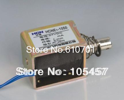 цена на 24V Pull Hold/Release 6mm Stroke 6.3Kg Force Electromagnet Solenoid Actuator HCNE1-1050