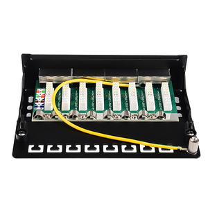 Image 3 - Mini Desktop CAT 6A 8 port Patch Panel Full Shielded, Available For Wall Mounting (bottom plate with wall mount screw holes)