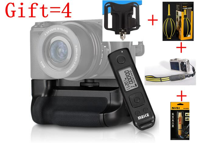 Buy1 Gift 4 Meike MK-A6300 Pro Battery Grip 2.4G Wireless Remote Control Suit for Sony A6300 working with NP-FW50 battery neewer meike battery grip for sony a6300 camera built in 2 4ghz remote control work with 1 or 2 np fw50 battery