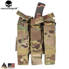 EMERSONGEAR Modular Triple Pouch Airsoft Hunting MP7 Magazine Pouch Wargame Tactical Accessories Molle Mag Pouch Multicam EM6357