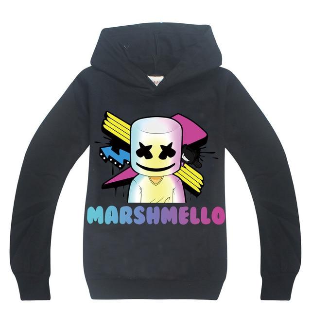 Chàng trai Hoodies Marshmello T Áo Sơ Mi DJ Âm Nhạc áo Trẻ Em Áo Nỉ Cho Cậu Bé Marshmello Trẻ Em Bobo Choses Tops Vestidos Trang Phục