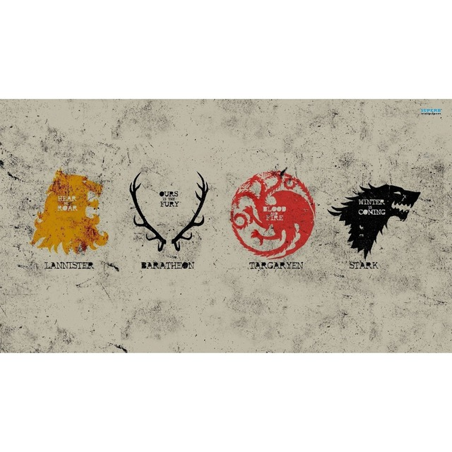 Game Of Thrones A Song Of Fire And Ice Symbols Of 4 Houses Board