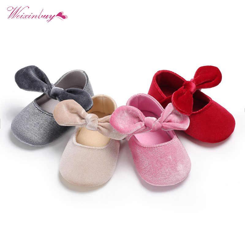 da030456a2e87 Summer Princess Baby Girls Shoes Big Tie Bowknot Crib Footwear Newborn  Infant Toddler Nylon Cloth Soft