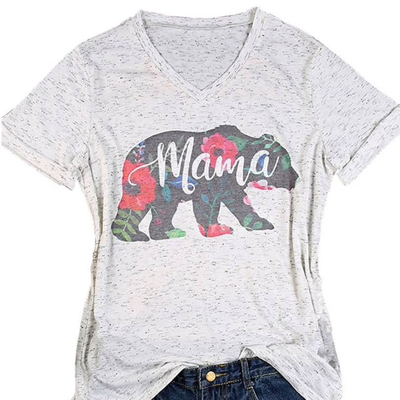 6c869565756dd Floral Mama Bear T Shirt Pregnancy Reveal Shirts Mother'S Day T ...