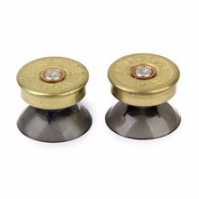 2 Pack Thumb sticks Bullet brass Buttons Set for PS4/Xbox One Controller(China)