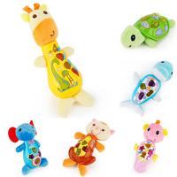 Newborn Baby Toys 0 12 Months Plush Baby Rattle Musical Toys Appease Infants Seahorse Turtle Elephant