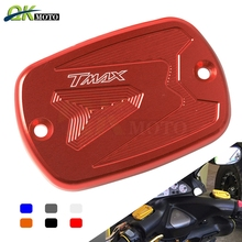 1 pieces Motorcycle CNC Front Brake Master Cylinder Fluid Reservoir Cover Cap for Yamaha Tmax 530 2012-2015 Tmax 500 2008 - 2011 kemimoto tmax530 motorcycle accessories cnc mirror hole cap cover driven mirror eliminators for yamaha tmax 530 2012 2013 2015