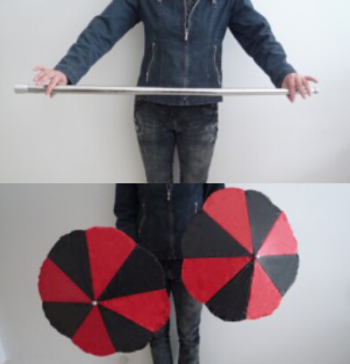 Magic wand to Umbrella (cane into two umbrellas) - stage magic trick, magic props umbrella magic