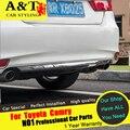 Para recortar A & T Para Toyota Camry Camry parachoques Trasero cromado ajuste car styling 2015 Para Camry Retaguardia Parachoques tira de alta qual
