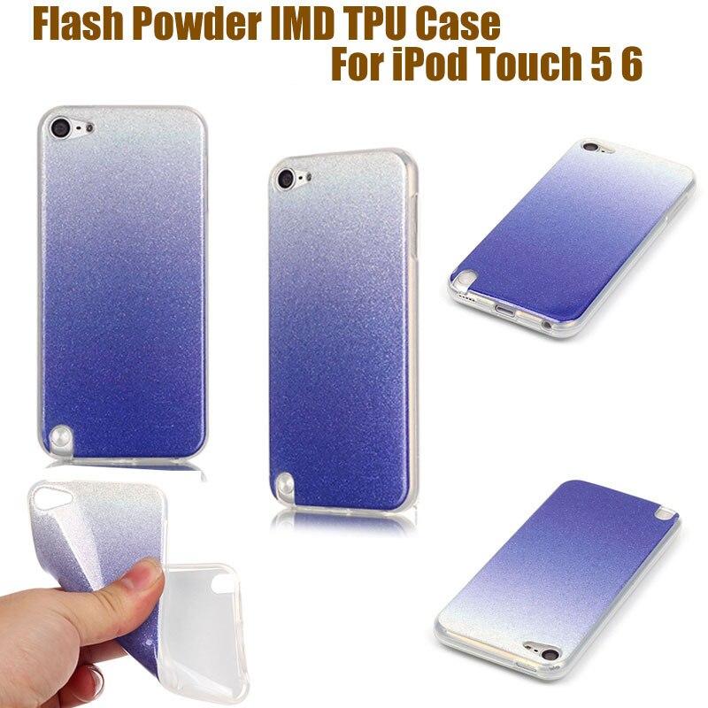 Imd caso suave cubierta del gel de tpu para apple ipod touch 6 Gradiente de Polv
