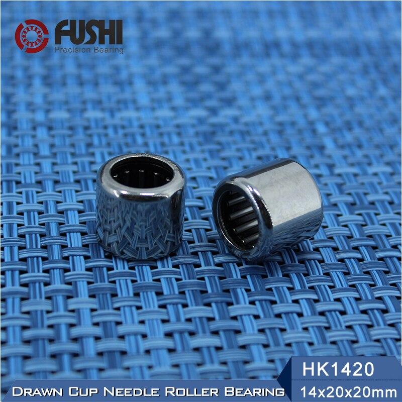 HK1420 Needle Bearings 14*20*20 mm ( 2 Pcs ) Drawn Cup Needle Roller Bearing HK142020 TLA1420Z free shipping high quality 1pc hk303824 7942 30 drawn cup type needle roller bearing 30x38x24mm