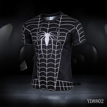 Compressed Shirt Quick Dry Fitness Train T-shirt For Man High Quality Breathable Super Hero Men Clothing Fashion T-shirt