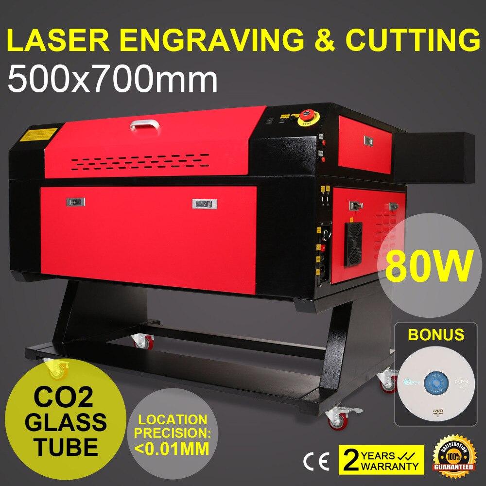 CFR Term  80W Laser Engraving Cutting Machine  Co2 Laser Engraver 700x500mm