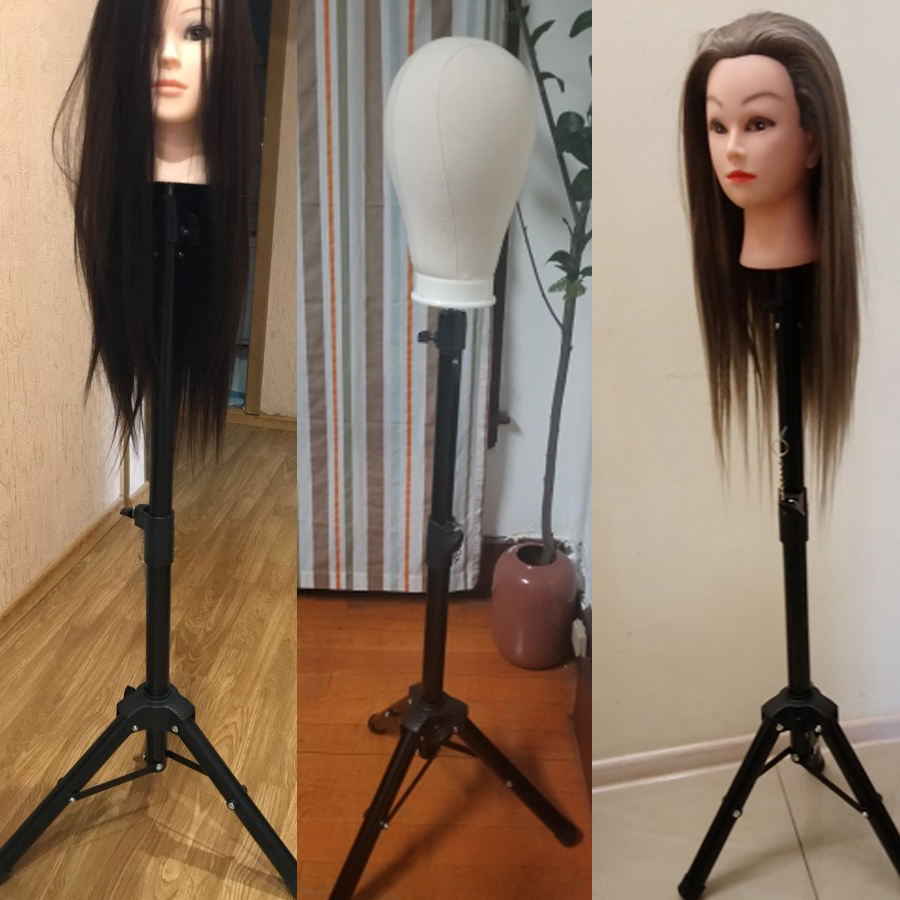 AliLeader Wholesale Price Tripod Stand For Mannequin Adjustable Tripod Wig Stands Holder Wig Making Tools Leg Strong Stable 1PC