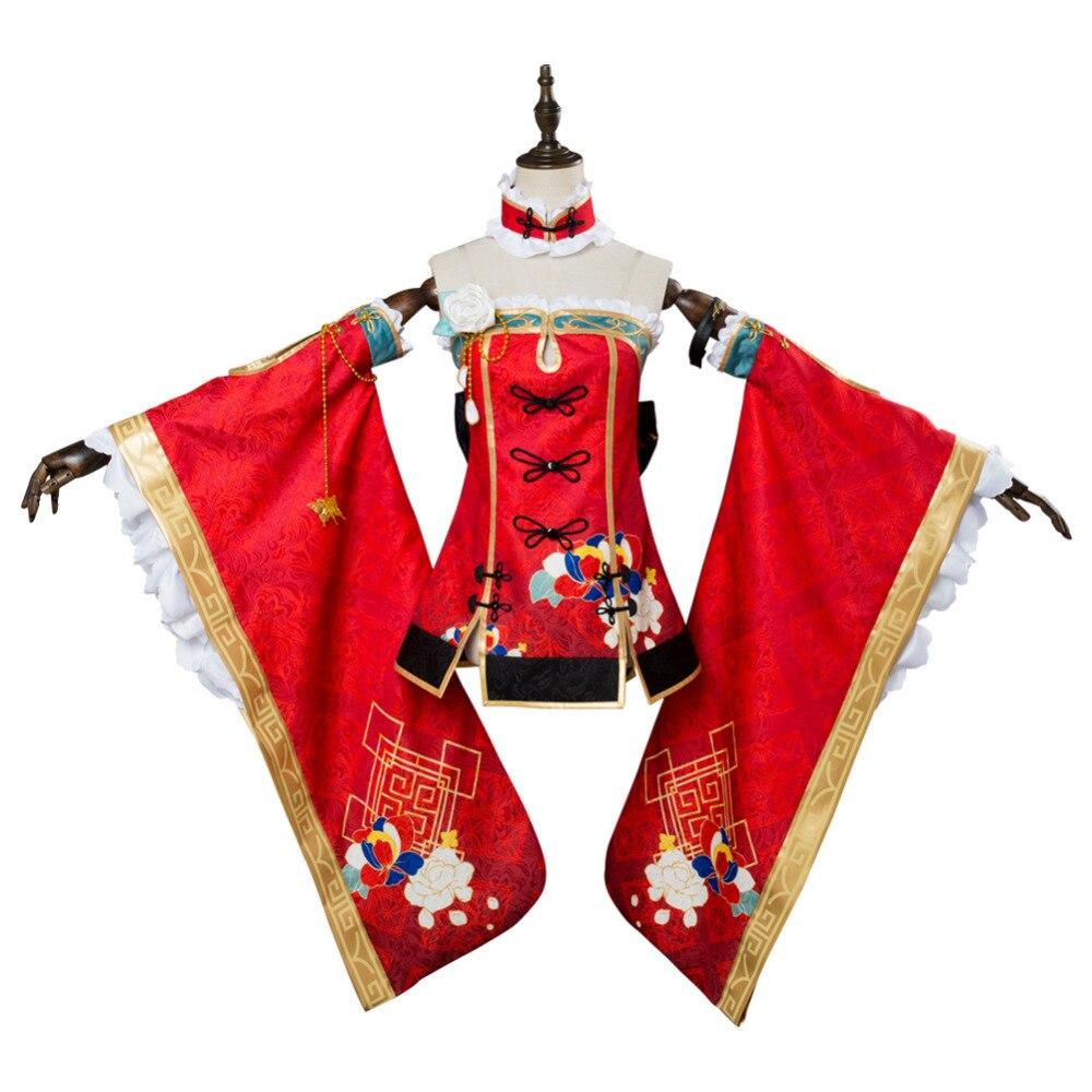 LoveLive Aqours Kurosawa Dia cheongsam Cosplay Costume Women Girls Cosplay China Dress Custom Made