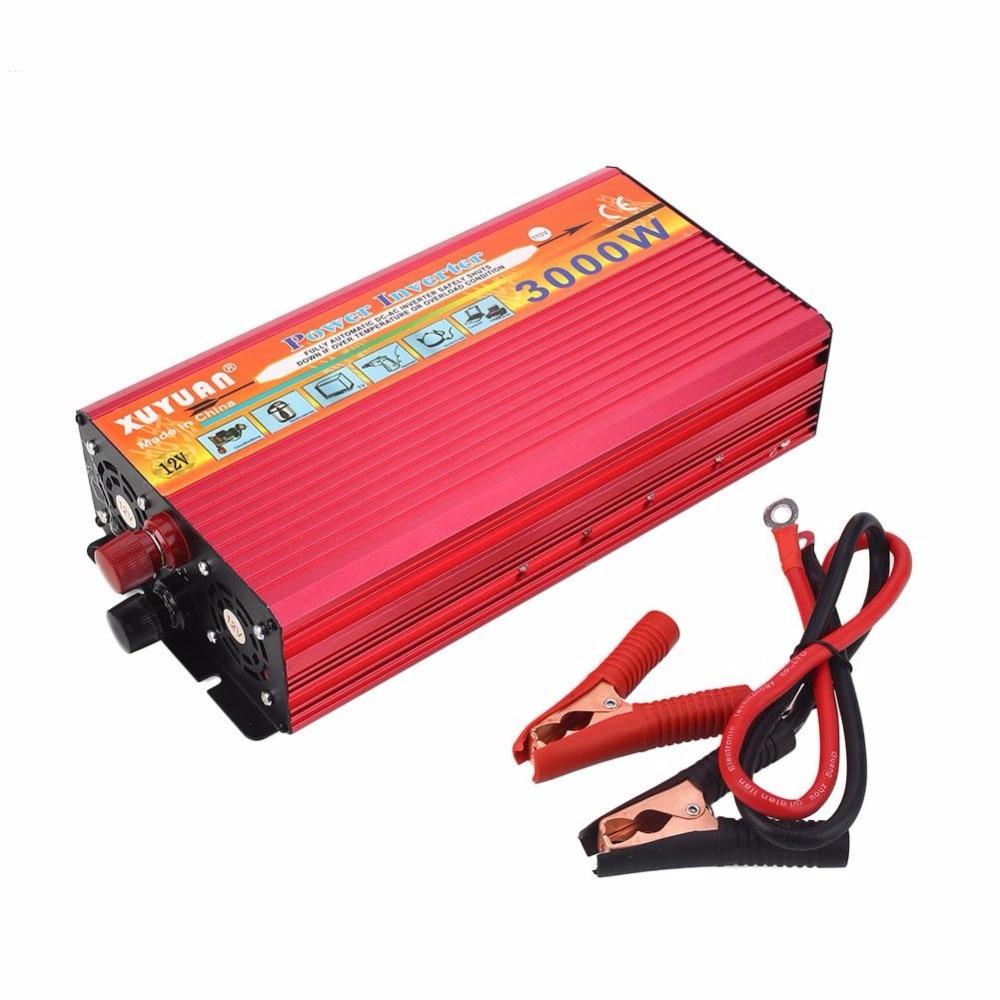 Vehemo 3000 Вт автомобиля Питание 12 В до 110 В инвертор Зарядное устройство конвертер автомобильный адаптер Электронный Интимные аксессуары США В...