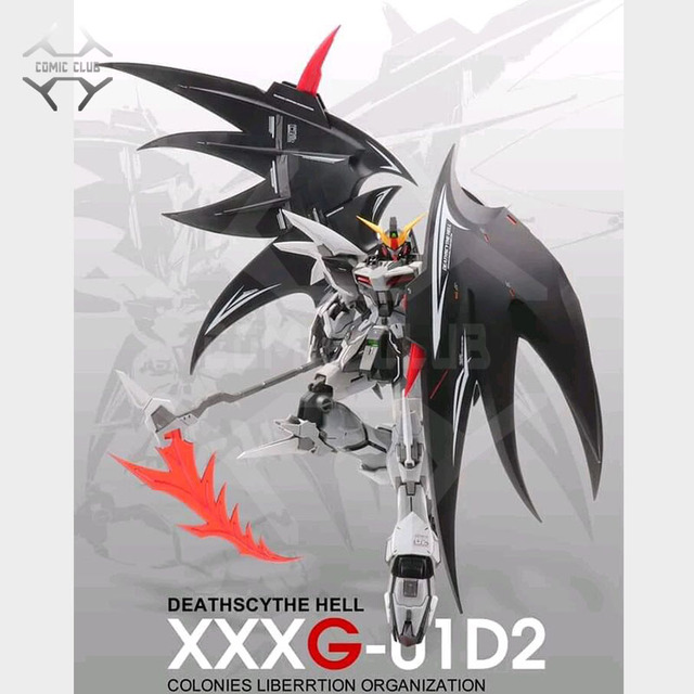 Figura DE ACCIÓN DE COMIC CLUB, modelo en STOCK, corazón, Deathscythe, Hell, Gundam, XXXG 01D2, ew, MG, 1/100