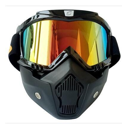 2016 Brand New Vintage Helmet Mask Goggle Fitting Retro Motorcycle Helmet Shield Gafas CG03