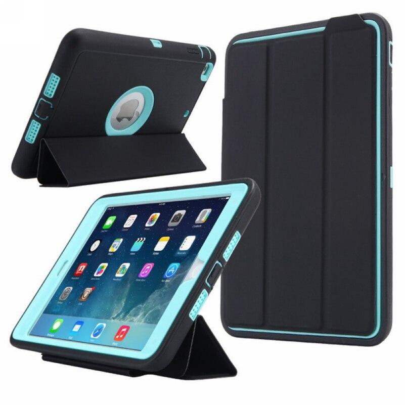 För Apple iPad Mini 3/2/1 Kids Safe Armour Shockproof Full Body Smart Sömn Hard Case Cover W / Bulit-in Skärmskydd