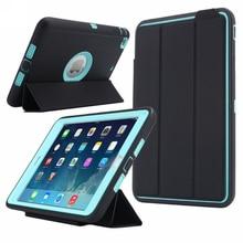 Para apple ipad mini 3/2/1 safe kids armadura a prueba de golpes de todo el cuerpo inteligente sleep hard case cover w/bulit-en el protector de pantalla