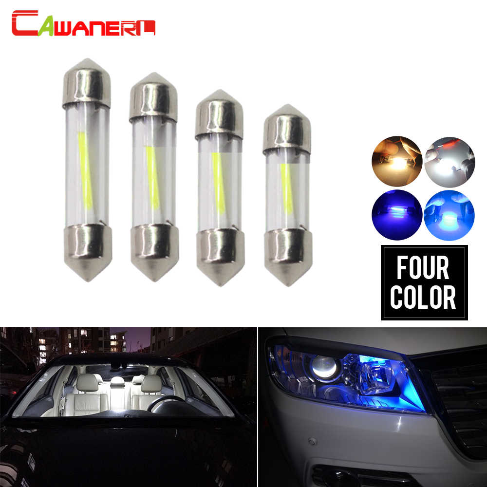 Cawanerl 10 Pieces Car Festoon COB LED Bulbs Auto Interior Dome Map Reading Glove Box Boot Light Rear Trunk License Plate Lamp