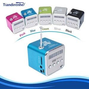 Image 1 - Taşınabilir Mini FM radyo hoparlör USB MP3 müzik çalar ses kutusu desteği Micro SD TF AUX LCD ekran ile PC için dizüstü hediye