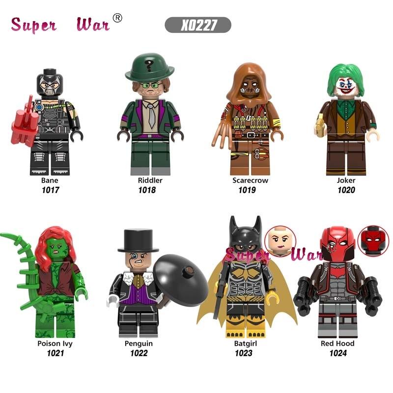 50pcs Super Heroes Bane Riddler Scarecrow Joker Poison Ivy Penguin Batgirl Red Hood Figures Building Block For Children Toys Toys & Hobbies Model Building
