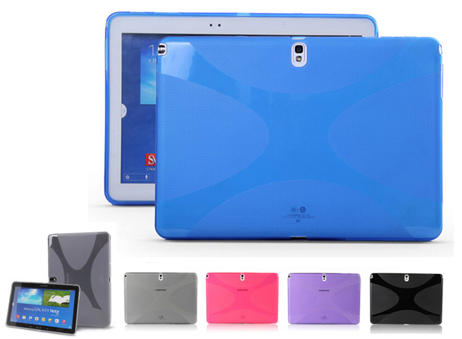 X Design Silicon Case TPU Gel Cover For Samsung Galaxy Tab 10.1 Pro LTE NOTE 10.1 2014 Edition T520 T525 P600 P601 футболка name it name it na020egqmy80