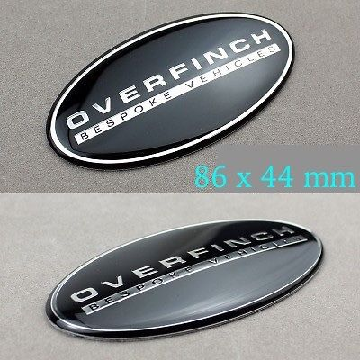20X OVERFINCH BESPOKE VEHICLES Emblem Aluminum Sticker for Rover Defender Discovery Freelander Evoque Auto series