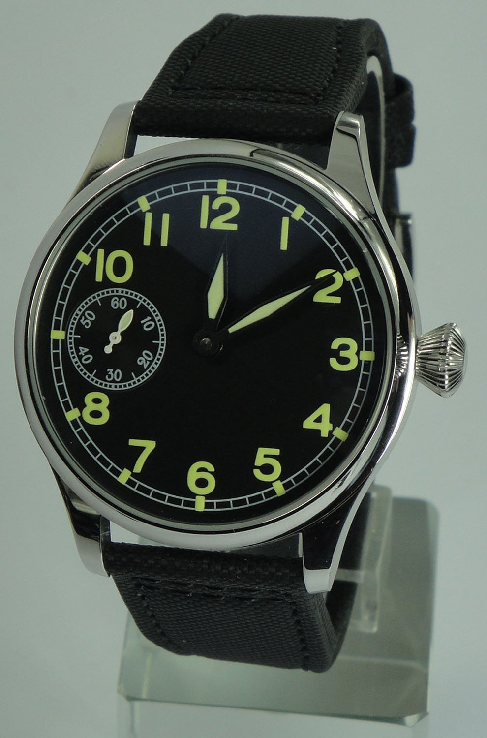 Parnis Portugal Style Men's Mechanical Hand Wind Watch Seagull Movement St36 - parnis store