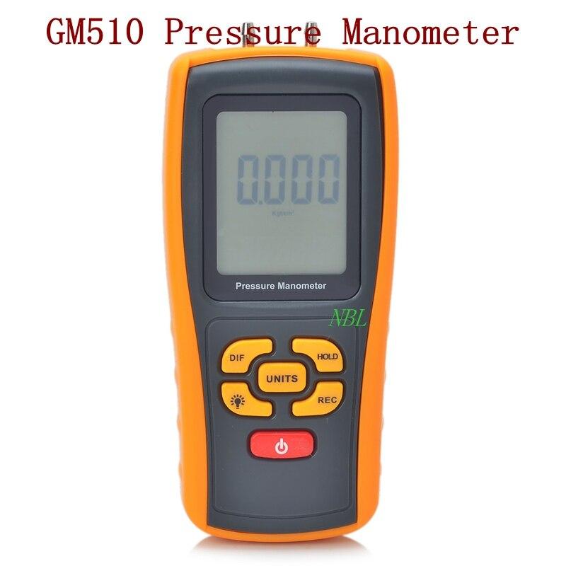 Marca Multifunções GM510 10kPa Manômetro De Pressão Digital Medidor De Medidor de Pressão de Interface USB Função Indicador de Bateria Fraca