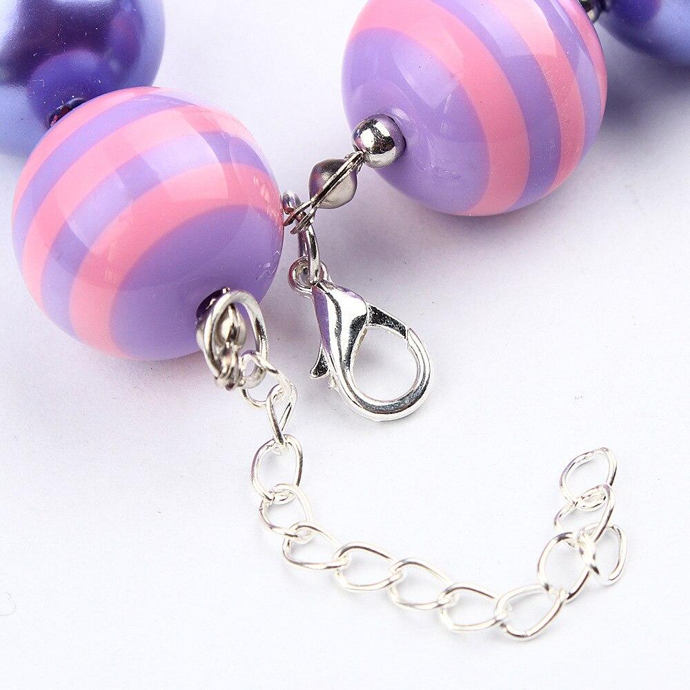 New Bow Smycken Chunky Pärlor Halsband Little Girl Baby Kids - Märkessmycken - Foto 3