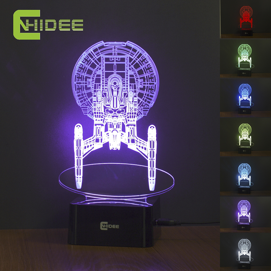 buy usb led night lamp star trek