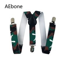 AEbone Baby Boys Suspenders with 3 Clip Camouflage Braces for Children Kids Suspenders for Pants Tirantes Para Bebe Sus58