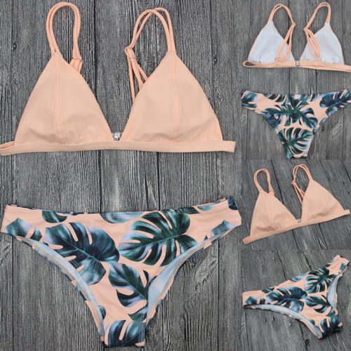 2018 Women's Bikinis Set Padded Push-up Bikini Beach Swimsuit Bathing Suit Flower Swimwear Beachwear