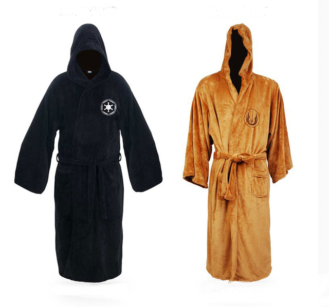New Arrived Star Wars Adult Brown Jedi/Black Sith Robe Men Bathrobe Cape Cloak Cosplay Costume
