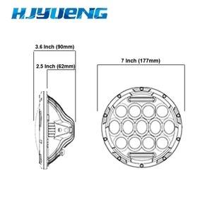 "Image 3 - HJYUENG For UAZ Hunter Suzuki Samurai LED Projector headlight 7"" LED headlamp Light Lamp 7inch For Lada 4x4 urban Niva"