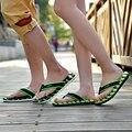 Más el Euro 39-48 de Los Hombres de Flip Flops EE.UU. 11-14 de Cuero DEL PVC Zapatillas de casa de Ocio Colores Mezclados Mans Plana Diapositivas de Verano Masculina sandalias