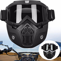 Cool Motocross Goggle Glasses Face Dust Mask Detachable Modular Motorcycle Riding Head Wear Open Face Mask Helmet Goggles Shield