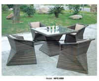 Creative Diamond Shaped Table Chair Set Modern Design Rattan Garden Set Leisure Balcony Hotel Garden Holiday Outdoor Furniture