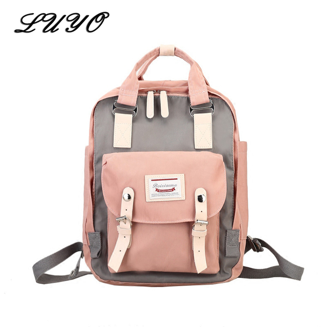 e2c11cc973 2018 Fashion Canvas Student Mochila Feminina Kanken Travel Backpack Small  Schoolbag Women Bagpack School Bags For Teenage Girls