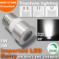 15 20 degree narrow beam angle 12V 110V 220V lamp dimmable spot light bulb mini LED spotlight 1W 3W GU10 E27 MR11 MR16