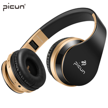 Picun P16 Bluetooth Headphones 8 Hours Music Time With Mic. TF Card  Wireless headphoneHIFI Gamer Headset for iphone Xiaomi MP3