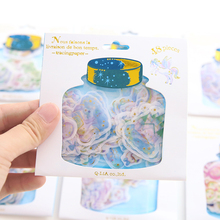48pcs/pack Japanese watercolor phnom penh stickers hands DIY photo album gilding cute reward diary decoration stickers