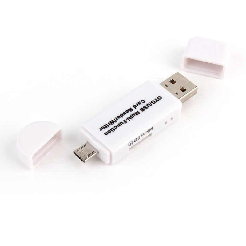 2 في 1 USB OTG قارئ بطاقات فلاش محرك عالية السرعة USB2.0 العالمي OTG TF/SD بطاقة للهاتف أندرويد الكمبيوتر تمديد رؤوس